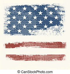 Grunge flag of the USA