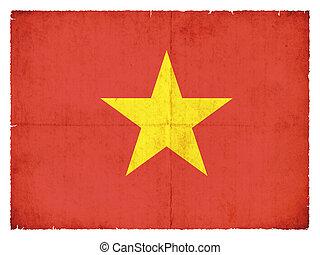 Grunge flag of the Vietnam