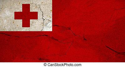 Grunge flag of Tonga