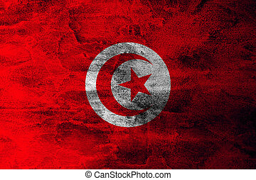 Grunge flag of Tunisia