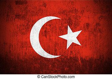 Grunge Flag Of Turkey