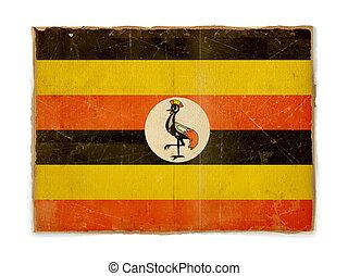grunge flag of Uganda