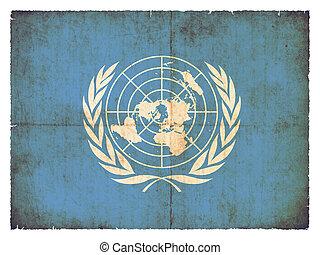 Grunge flag of United Nations
