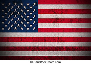 Grunge Flag Of USA
