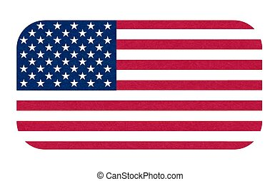 Grunge flag of USA. Isolated American banner with scratched texture, grunge. Flat style, vector with noise, marble textured background.
