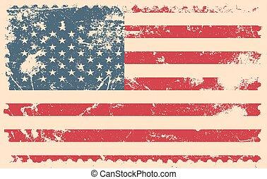 grunge flag of USA vector illustration