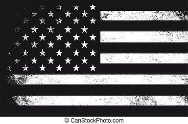 grunge flag of USA vector illustration