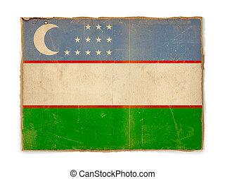 grunge flag of Uzbekistan