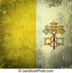 Grunge flag of Vatican City