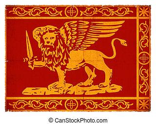 Grunge flag of Venice (Italy)