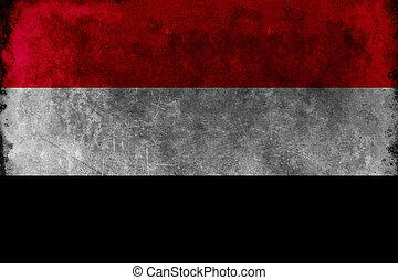 Grunge flag of Yemen