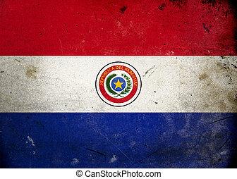 Grunge Flag Paraguay - Flag on old and vintage grunge ...