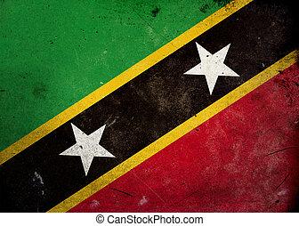 Grunge Flag Saint Kitts and Nevis
