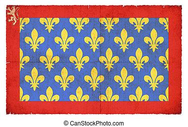 Grunge flag Sarthe (France)