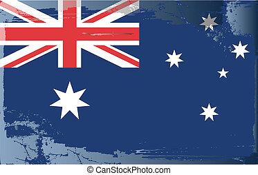 Grunge flag series-Australia