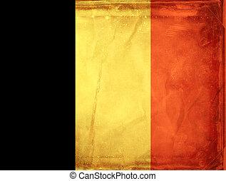 Grunge flag series - Belgium