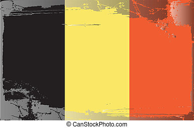 Grunge flag series-Belgium