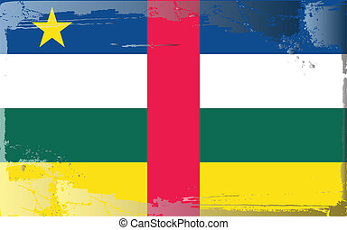 Grunge flag series-Central A. Rep - Grunge flag...