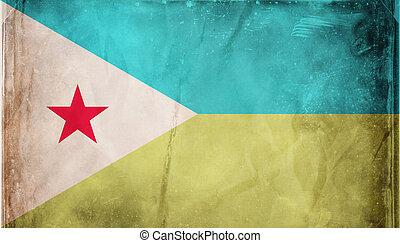 Grunge flag series - Djibouti