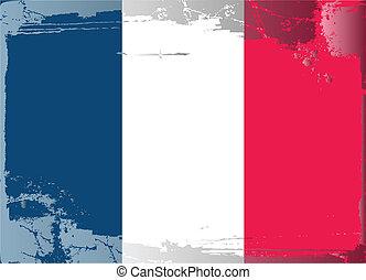 Grunge flag series-France, vector illustration