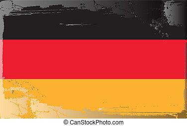 Grunge flag series-Germany