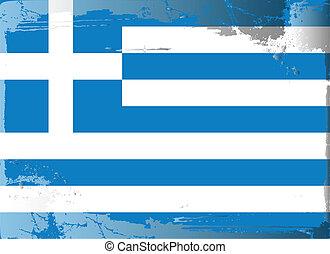Grunge flag series-Greece