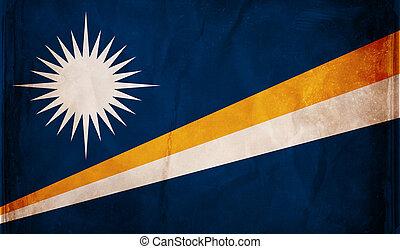 Grunge flag series - Marshall Islands