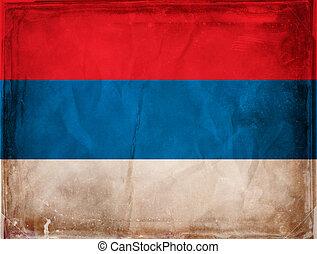 Montenegro - Grunge flag series -  Montenegro