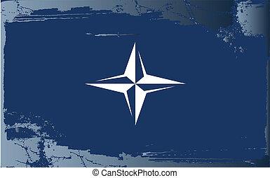 Grunge flag series-Nato, vector illustration