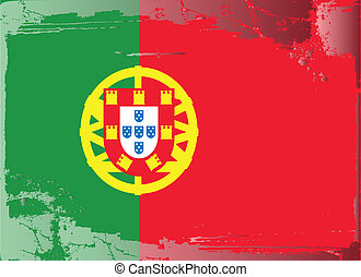 Grunge flag series-Portugal
