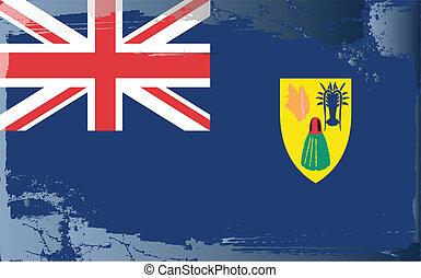 Grunge flag series-Turks&Caicos Isl - Grunge flag...