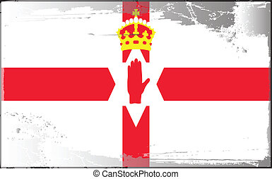 Grunge flag series-Ulster banner, vector illustration