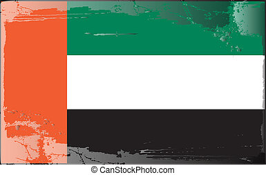 Grunge flag series-United Arab Emir