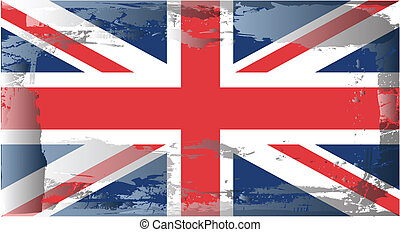 Grunge flag series-United Kingdom