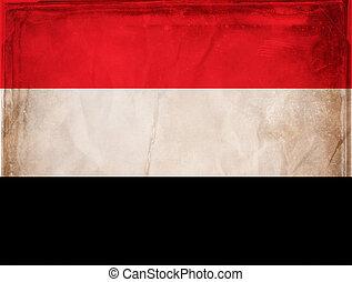Yemen - Grunge flag series - Yemen