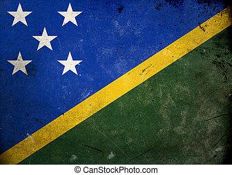 Grunge Flag Solomon Islands