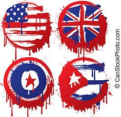 grunge, flag