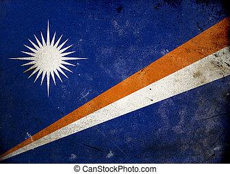 Grunge Flag the Marshall Islands
