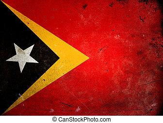 Grunge Flag Timor Lesta