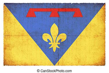 Grunge flag Var (France)