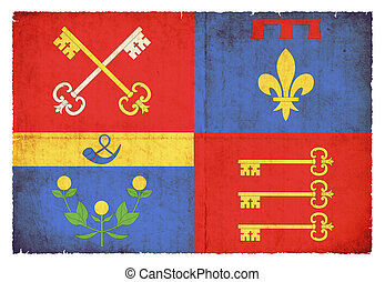 Grunge flag Vaucluse (France)