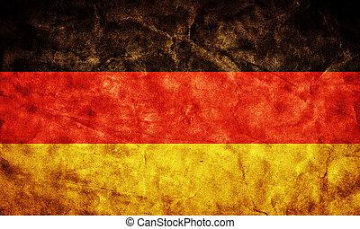 grunge, flag., vendemmia, articolo, germania, retro, ...