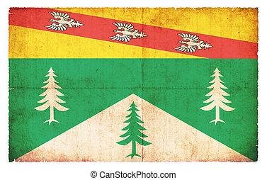 Grunge flag Vosges (France)
