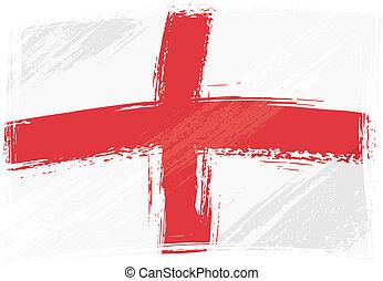 grunge, flagga, england