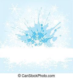 grunge, flocon de neige