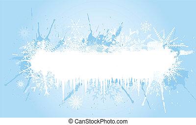 grunge, flocon de neige, fond