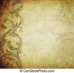 grunge, floral, achtergrond, met, ruimte, voor, tekst, of, beeld