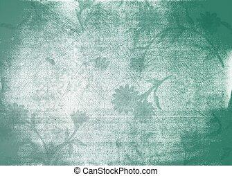 grunge, floral, achtergrond, textuur