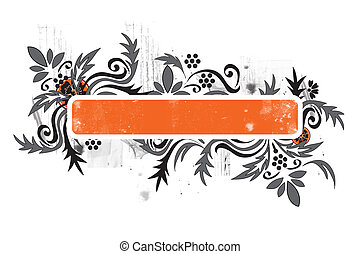 grunge floral background can be used as a background or a...