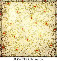 grunge floral background design
